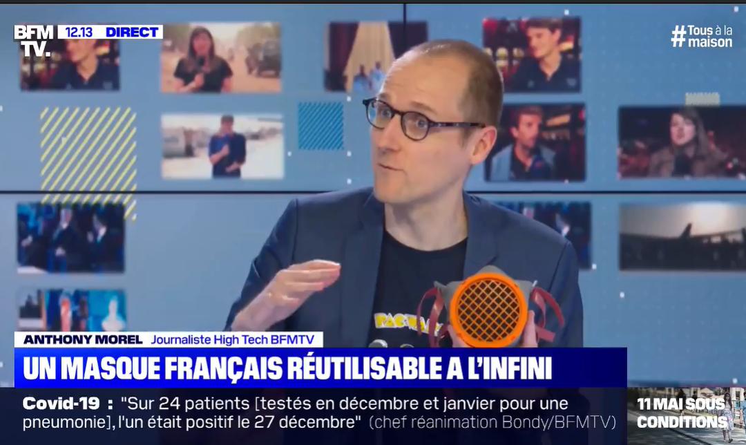 """Un masque français réutilisable à """"l'infini"""""""